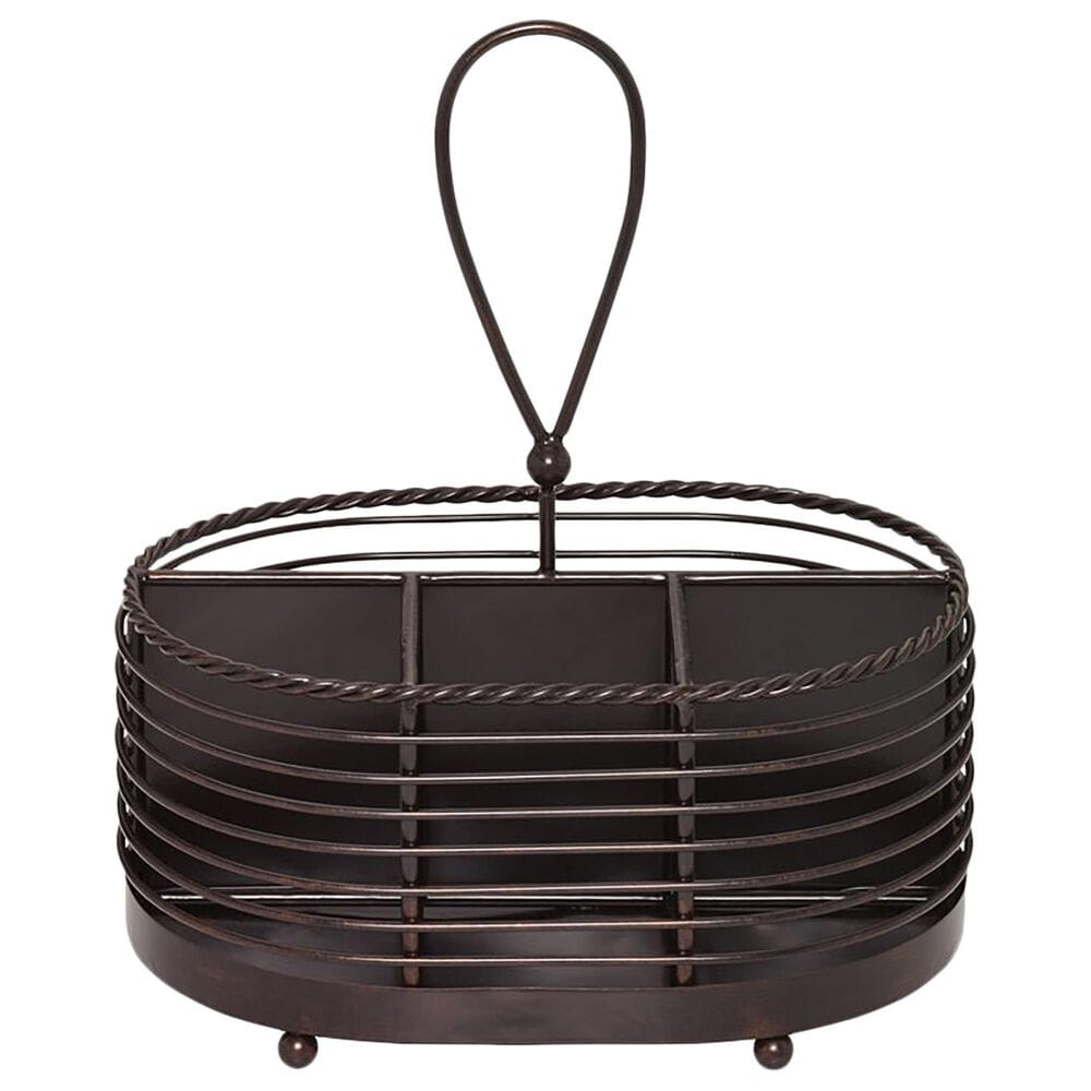 Lifetime Brands Mikasa Rope Napkin and Flatware Storage Caddy in Black, , large