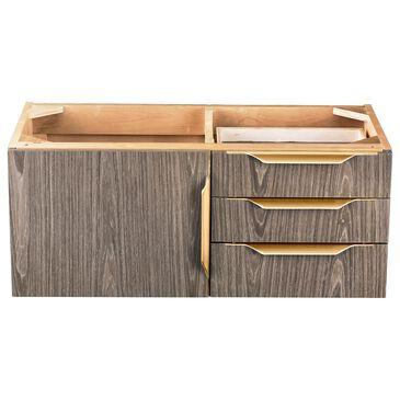 James Martin Mercer Island 36'' Single Bathroom Vanity Cabinet in Ash Gray with Brushed Gold Hardware, , large