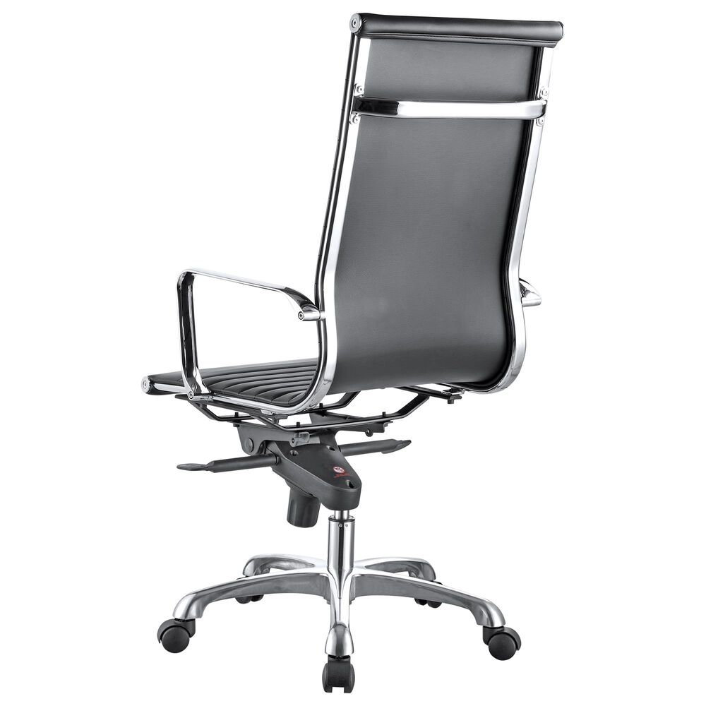 Moe's Home Collection Omega Swivel Office Chair in Black, , large