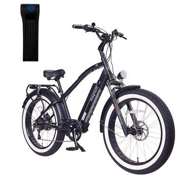 Magnum Ranger Electric High Step Bike in Matte Black + (Free) Foldylock Compact Bike Lock in Black, , large