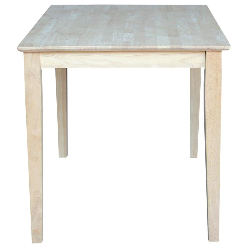 International Concepts Dining Table in Unfinished - Table Only , , large