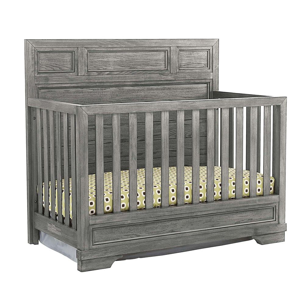 Eastern Shore Foundry Convertible Crib in Brushed Pewter, , large