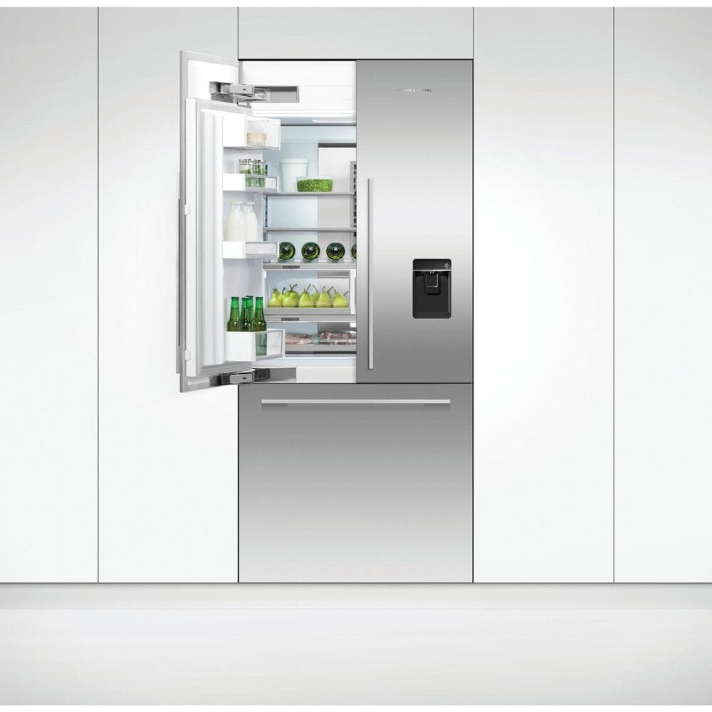 Fisher and Paykel 16.8 Cu. Ft. Integrated French Door Refrigerator with Ice and Water in Stainless Steel , , large