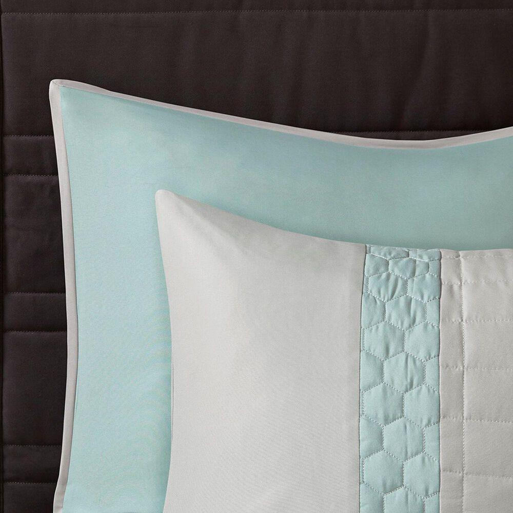 Hampton Park Tinsley 8-Piece California King Comforter Set in Seafoam and Grey, , large