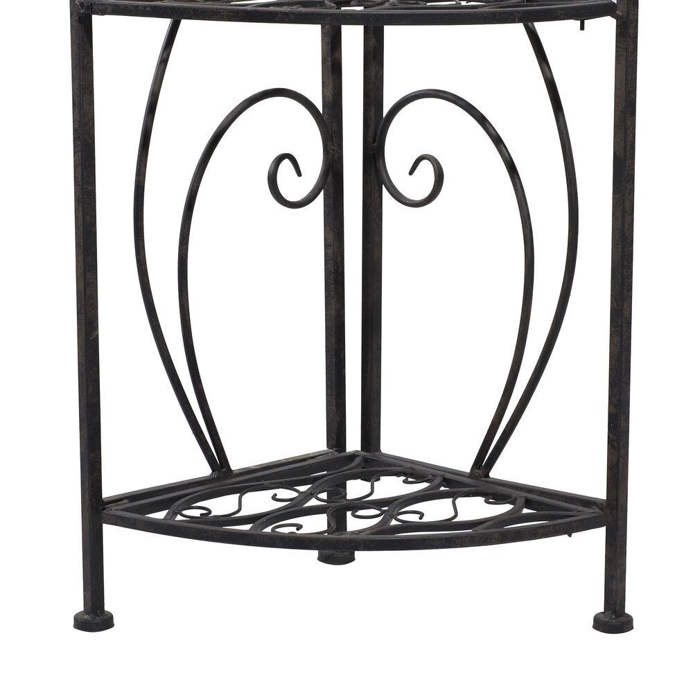 Maple and Jade 4-Tiered Corner Rack in Black, , large
