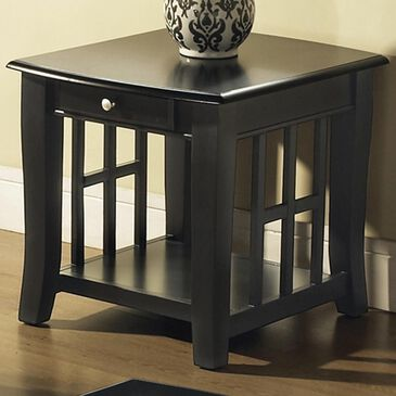 Crystal City Cassidy End Table in Black, , large