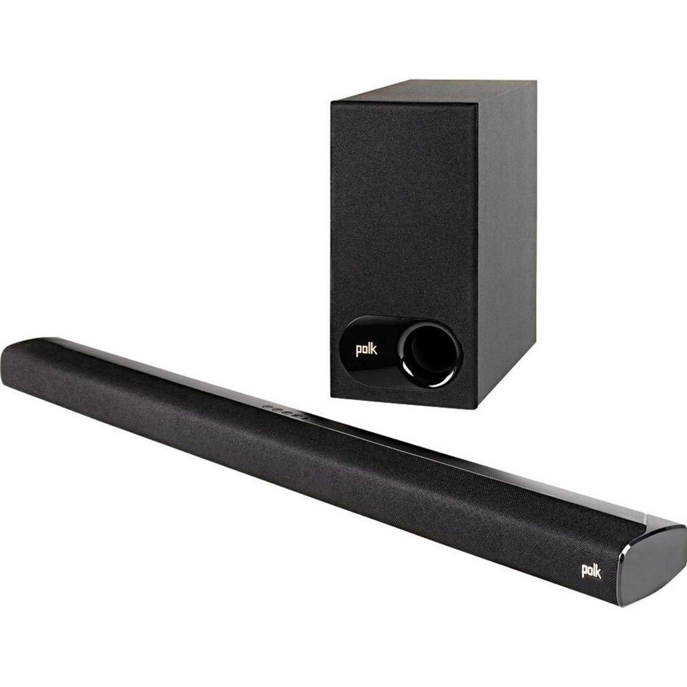 Polk 2.1 Channel Soundbar and Wireless Subwoofer System in Black, , large