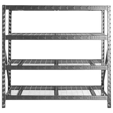 "Gladiator 77"" Wide Heavy Duty Rack with Four 24"" Deep Shelves in Hammered Granite, , large"