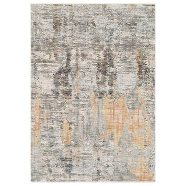 Surya Presidential PDT-2306 5' x 8' Blue, Gray and Orange Area Rug, , large