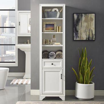 Crosley Furniture Tara Linen Cabinet in White, , large