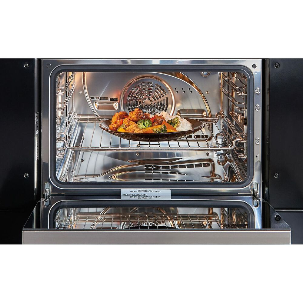 """Wolf 30"""" M Series Convection Steam Oven with Retractable Handle in Stainless Steel, , large"""