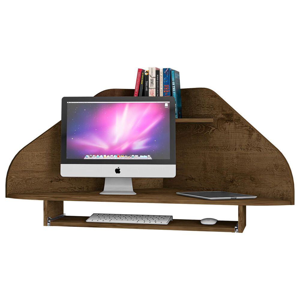 Dayton Bradley Floating Corner Desk in Rustic Brown, , large