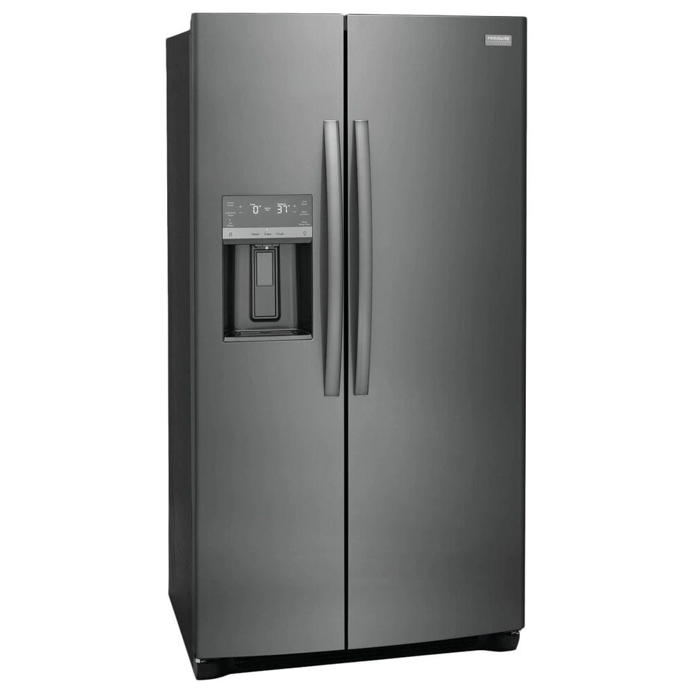 Frigidaire Gallery 22.3 Cu. Ft. Counter Depth Side-By-Side Refrigerator in Black Stainless Steel, , large