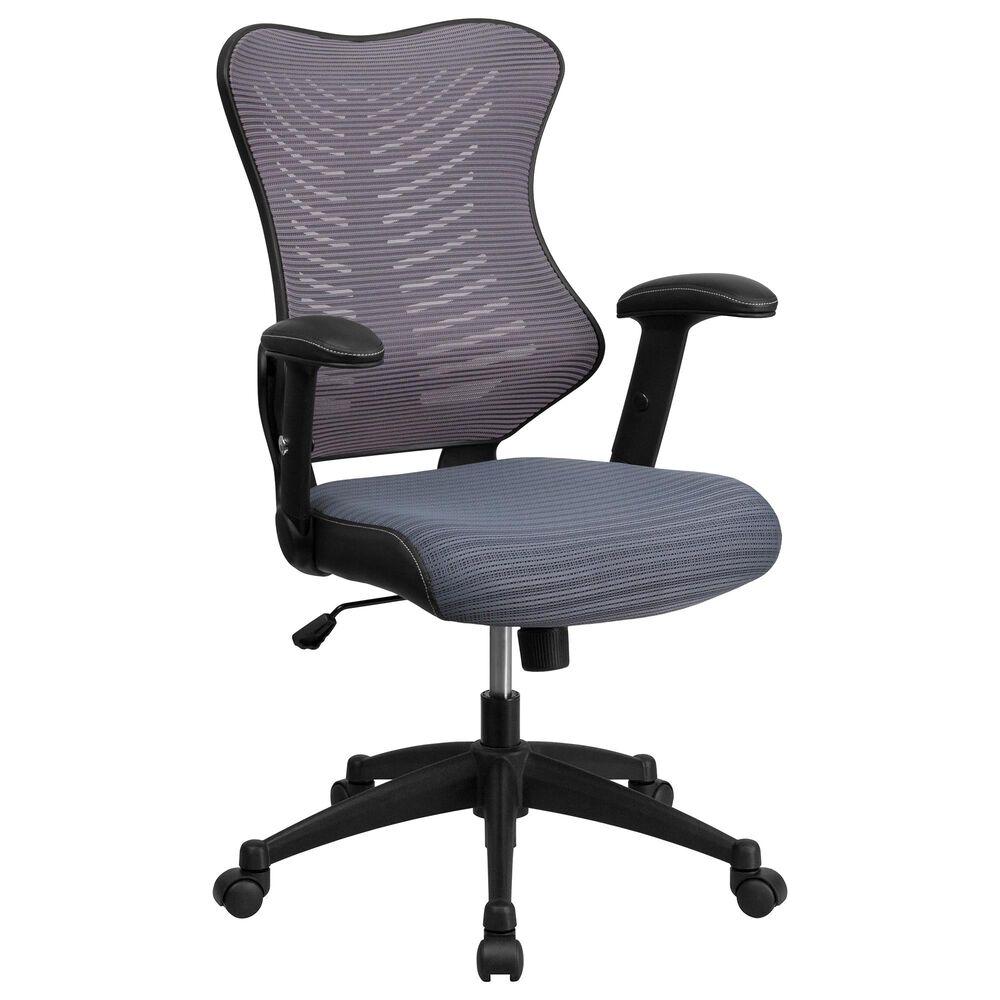 Flash Furniture Executive Swivel Chair in Gray, , large