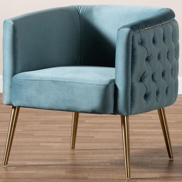 Baxton Studio Marcelle Accent Chair in Light Blue, , large