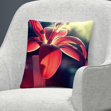Timberlake Beata Czyzowska Young 'Lady in Red' 16 x 16 Decorative Throw Pillow, , large