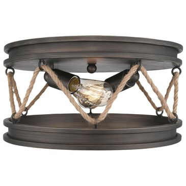 Golden Lighting Chatham Flush Mount in Gunmetal Bronze, , large