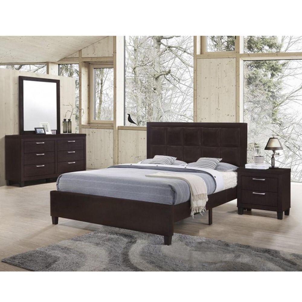 Titanic Furniture Bedroom 4 Piece Queen Set in Walnut, , large