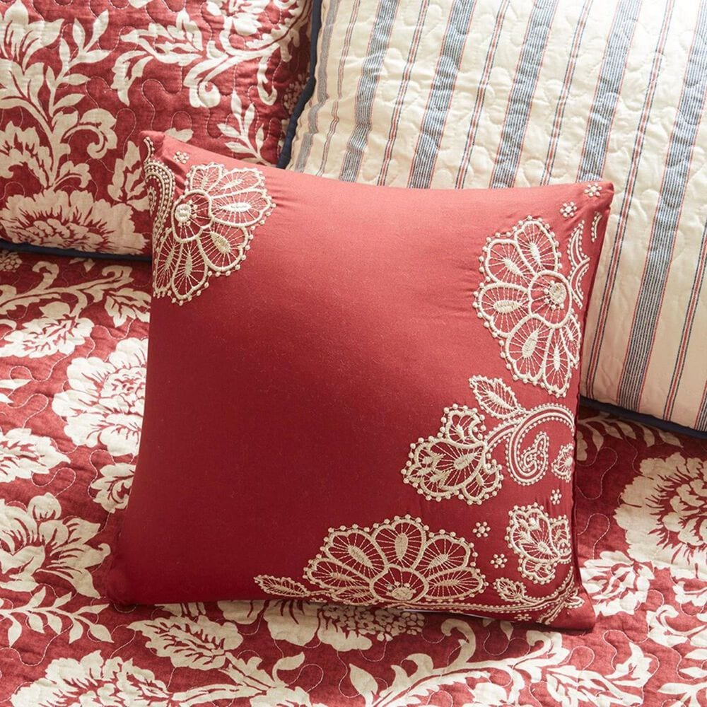 Hampton Park Lucy 6-Piece Twill Daybed Cover Set in Red, , large