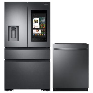 """Samsung 2-Piece Kitchen Package with 36"""" French Door Refrigerator in Black Stainless Steel, , large"""
