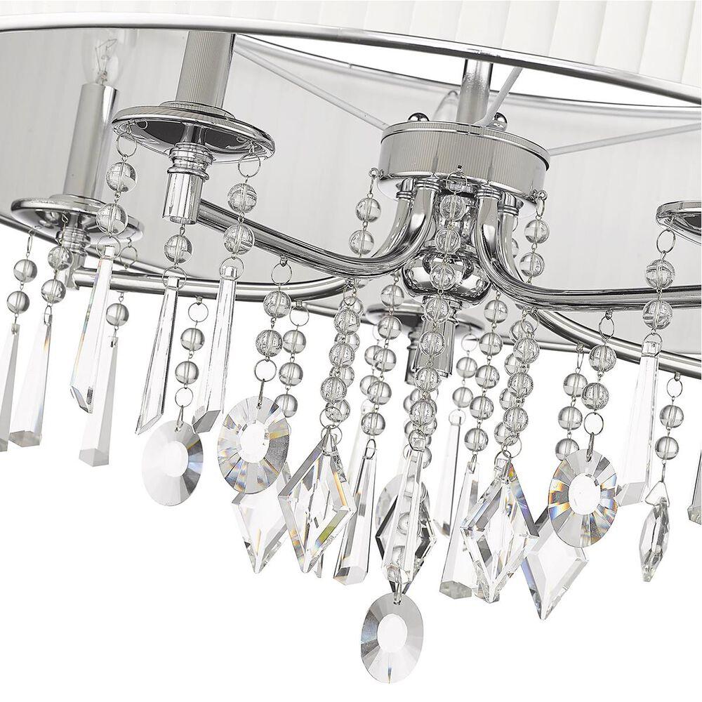 Golden Lighting Echelon 5-Light Chandelier in Chrome with Bridal Veil Shade, , large