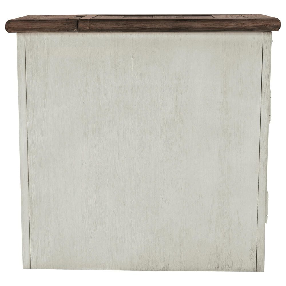 Signature Design by Ashley Bolanburg Chairside Table with USB in Weathered Oak and Antique White, , large