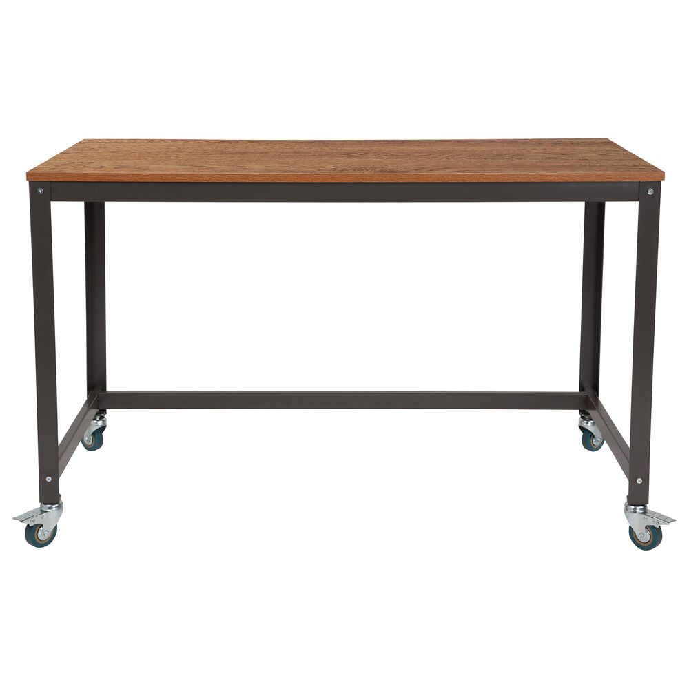 Flash Furniture Livingston Computer Table in Brown, , large