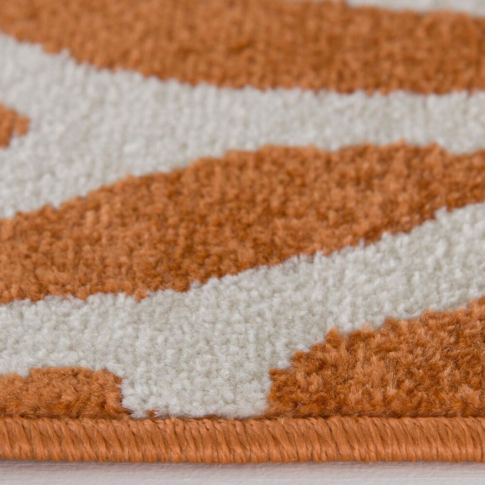 """Central Oriental Terrace Tropic Allover Coral 2303TN.084 6'7"""" x 9'6"""" Tangerine Area Rug, , large"""