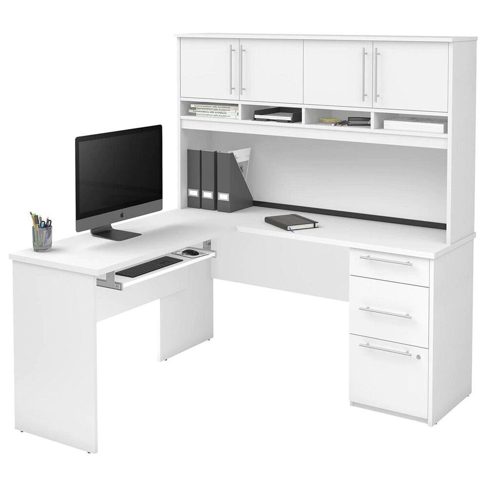 Bestar Innova Plus L-shaped desk in White, , large