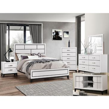 Claremont Akerson 4 Piece Queen Bedroom Set in White, , large