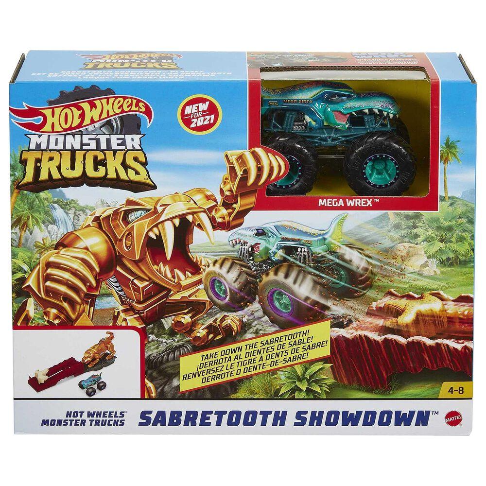 Hot Wheels Monster Trucks Sabertooth Playset, , large