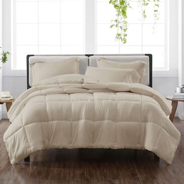 Pem America Cannon Solid 3-Piece Full/Queen Comforter Set in Khaki, , large