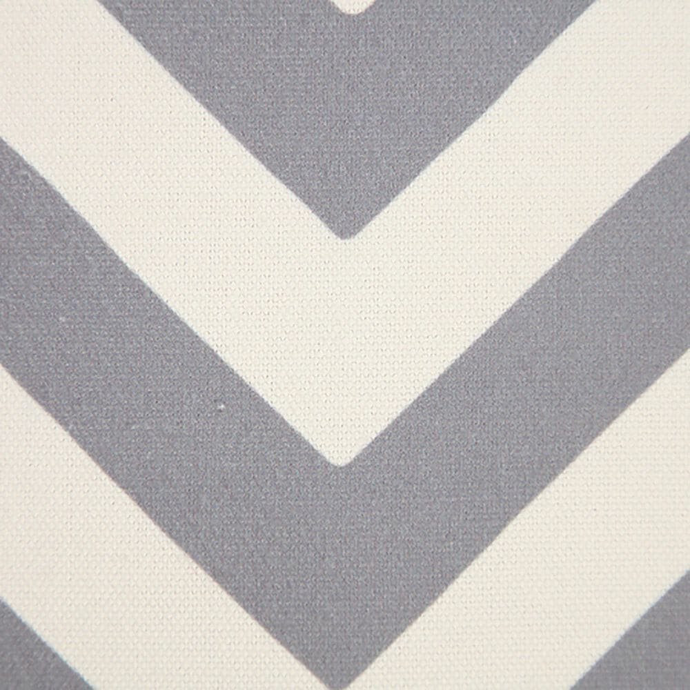 """L.R. RESOURCES 14"""" x 20"""" Chevron Outdoor Pillow in White and Gray, , large"""
