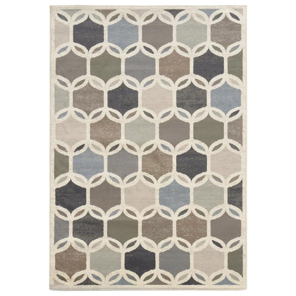 """Oriental Weavers Brentwood 090W9 9""""10"""" x 12""""10"""" Ivory Area Rug, , large"""