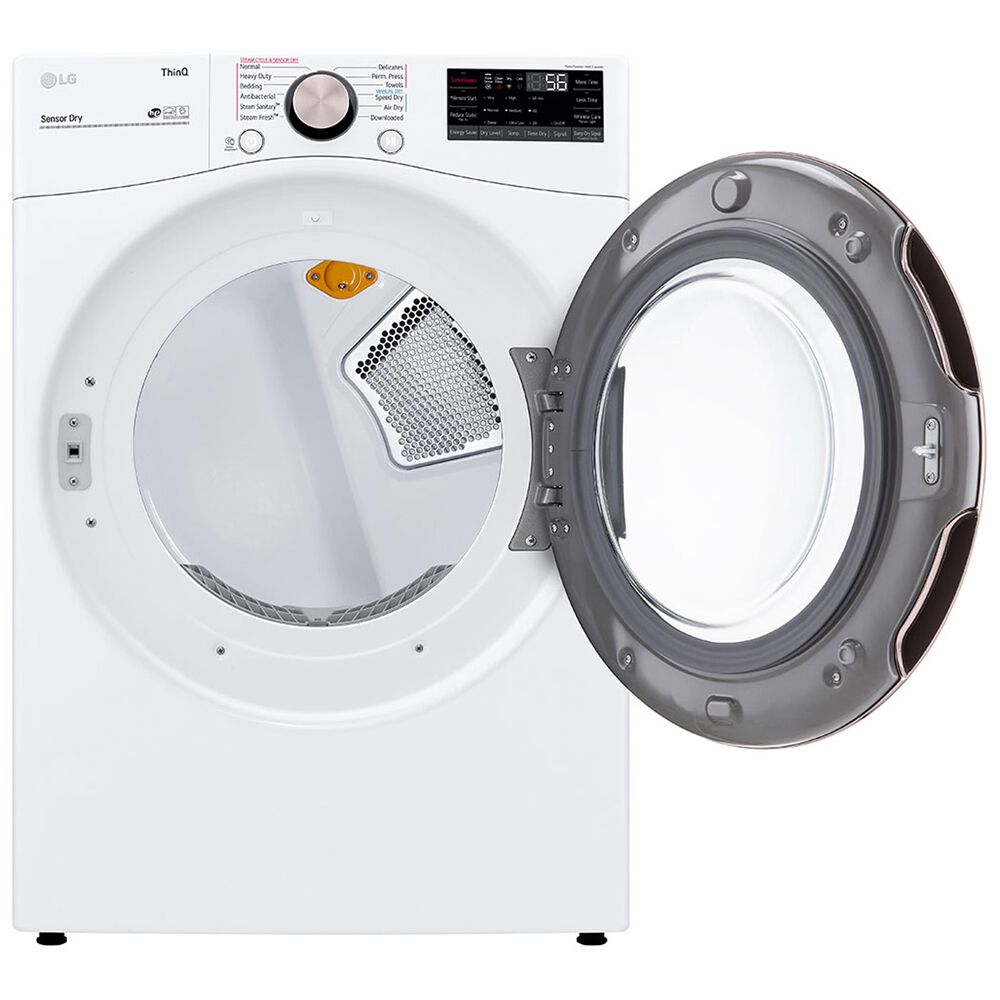 LG 4.5 Cu. Ft. Front Load Washer and 7.4 Cu. Ft. Electric Dryer with TurboWash 360 Laundry Pair in White, , large