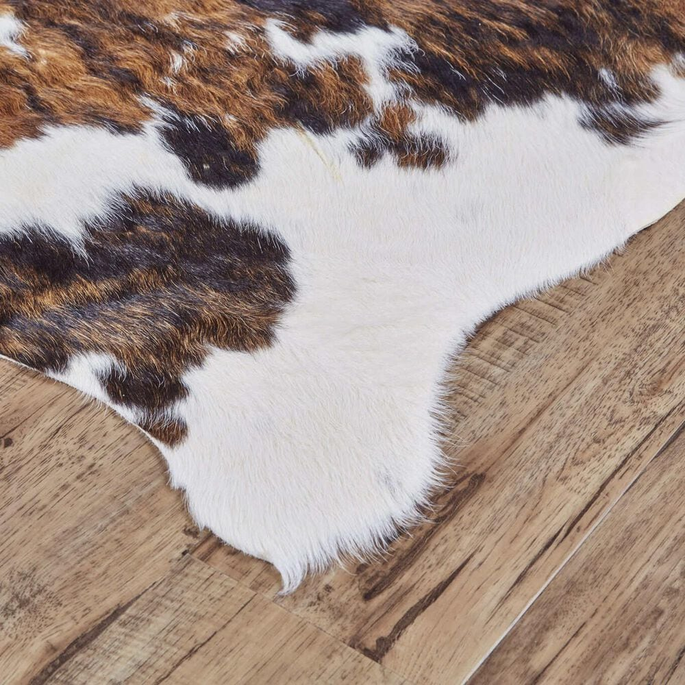 Feizy Rugs Bartlett Animal Cowhide 5' x 7' Exotic and Medium Area Rug, , large