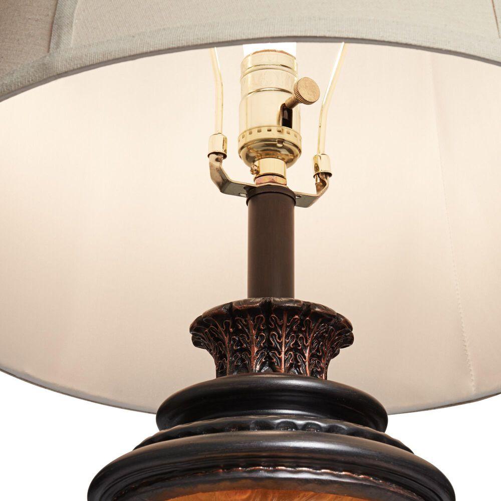 Pacific Coast Lighting Pine Cone Glow Table Lamp in Dark Bronze, , large