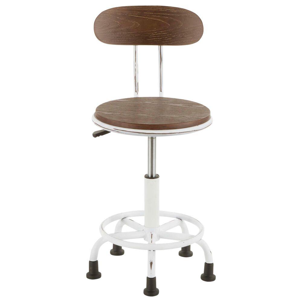 Lumisource Dakota Task Chair in Espresso/Vintage White, , large