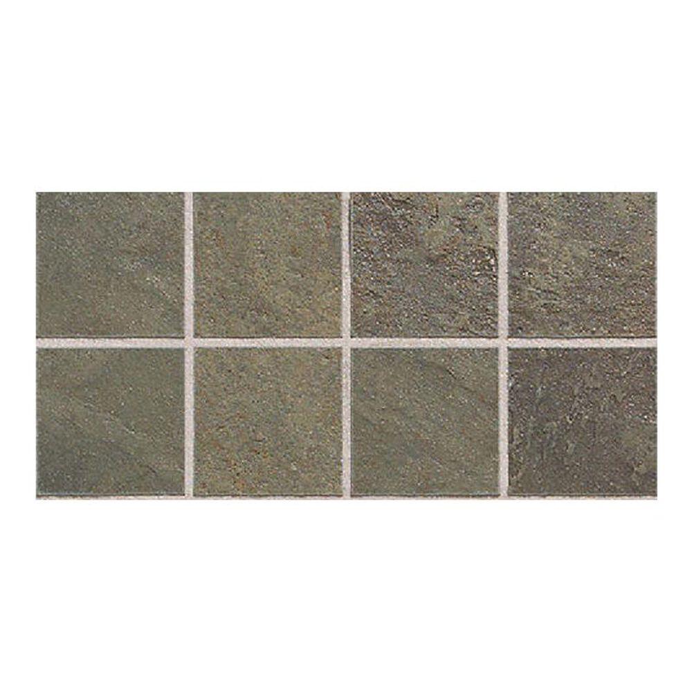 "Dal-Tile Continental Slate Brazilian Green 12"" x 24"" Porcelain Mosaic Sheet, , large"