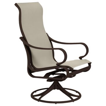 Tropitone Torino High Back Swivel Rocker with Sparkling Water Sling in Rich Earth, , large