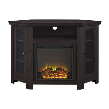 "Walker Edison 48"" Corner Fireplace TV Stand in Espresso, , large"