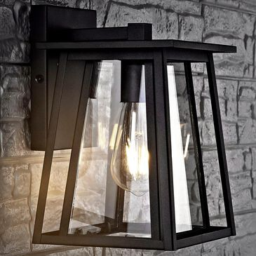 Safavieh Stern Outdoor Wall Lantern in Black, , large