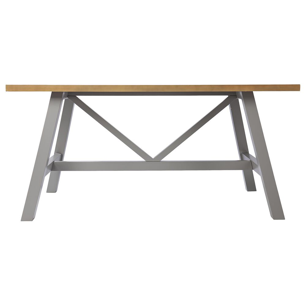 Southern Enterprises Hambleden Dining Table in Natural/Light Gray, , large