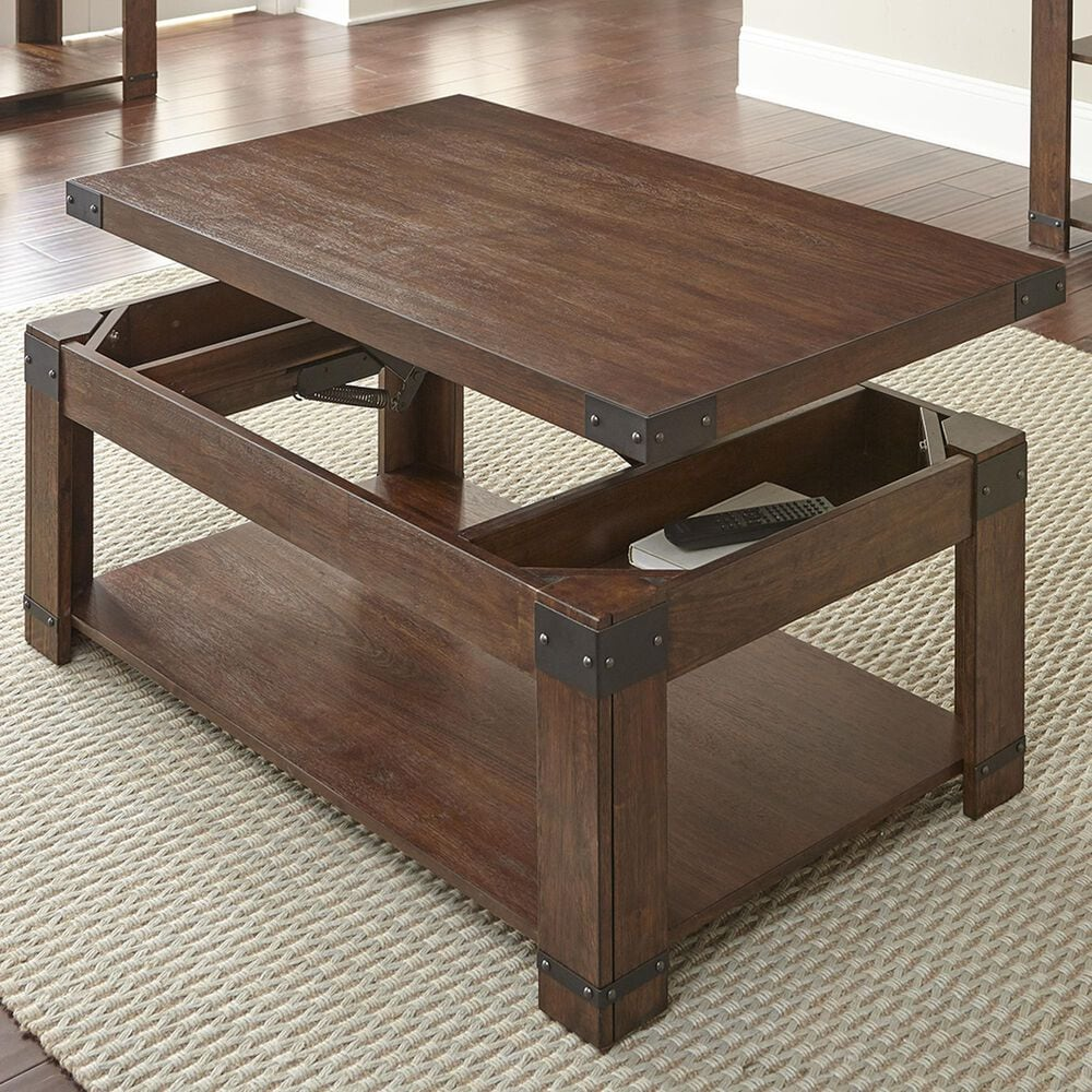 Steve Silver Arusha Lift-Top Cocktail Table in Medium Cherry, , large