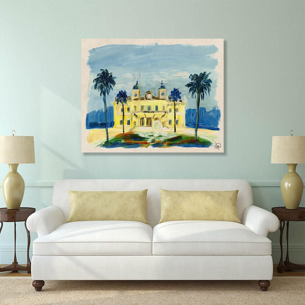 "Kathy Ireland Home ""Monte Carlo Casino"" 11"" x 14"" Metal Wall Art Print, , large"