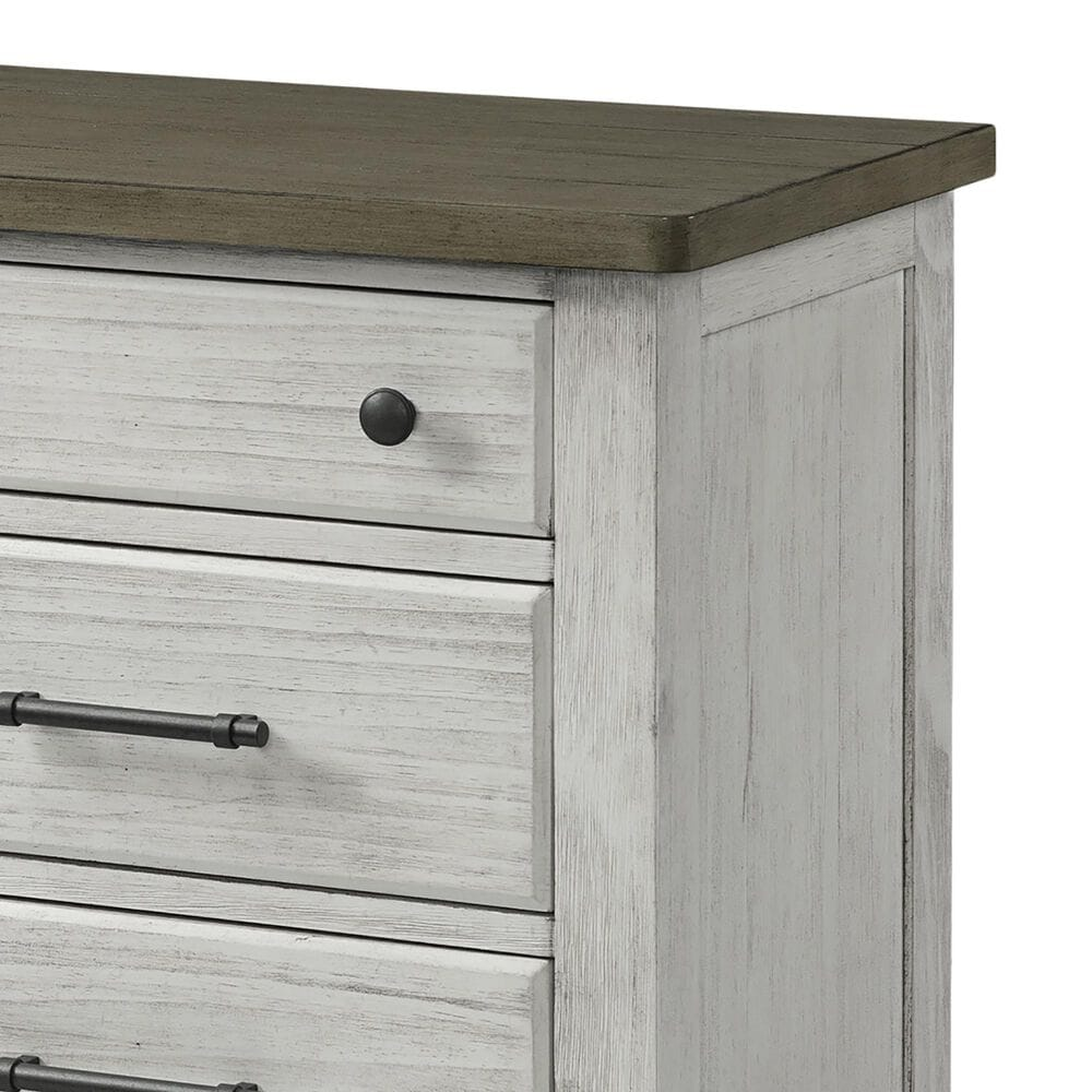 Eastern Shore Timber Ridge 2 Drawer Nightstand in Weather White and Sierra Brown, , large