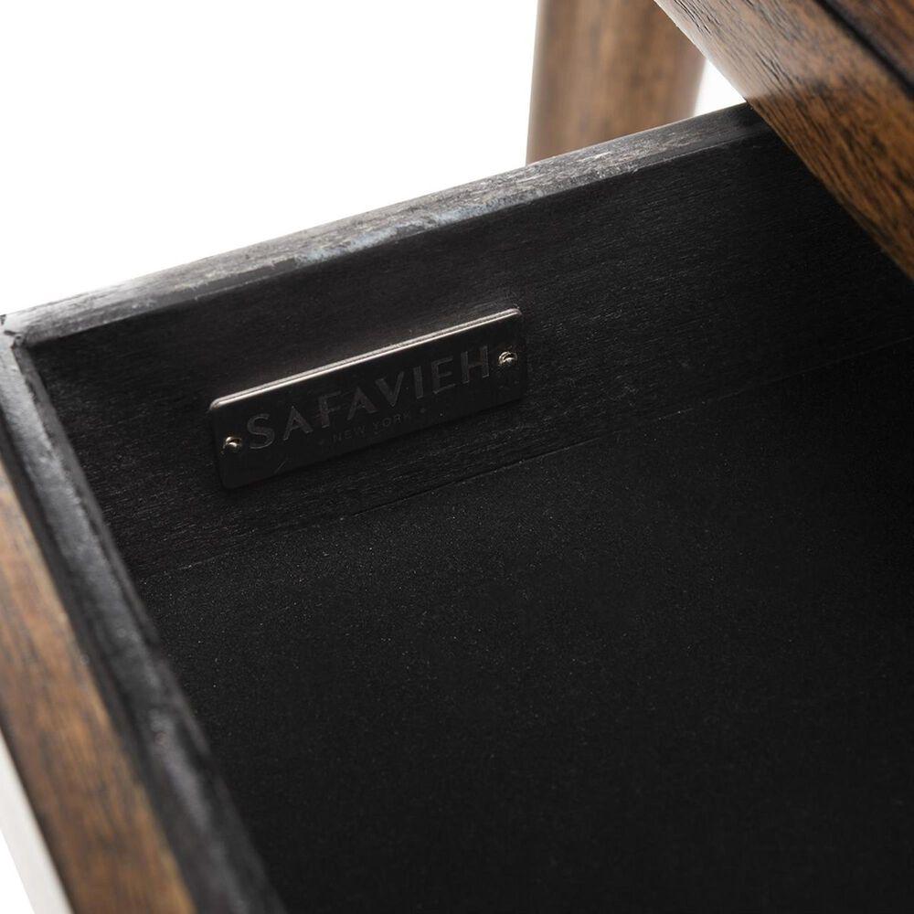 Safavieh Parker 1-Drawer Desk in Walnut and Gold, , large