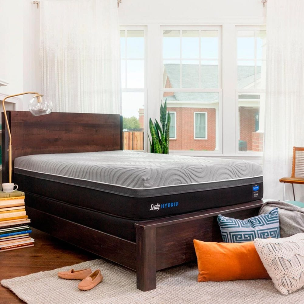 Sealy Performance Copper II Hybrid Cushion Firm Queen Mattress with High Profile Box Spring, , large