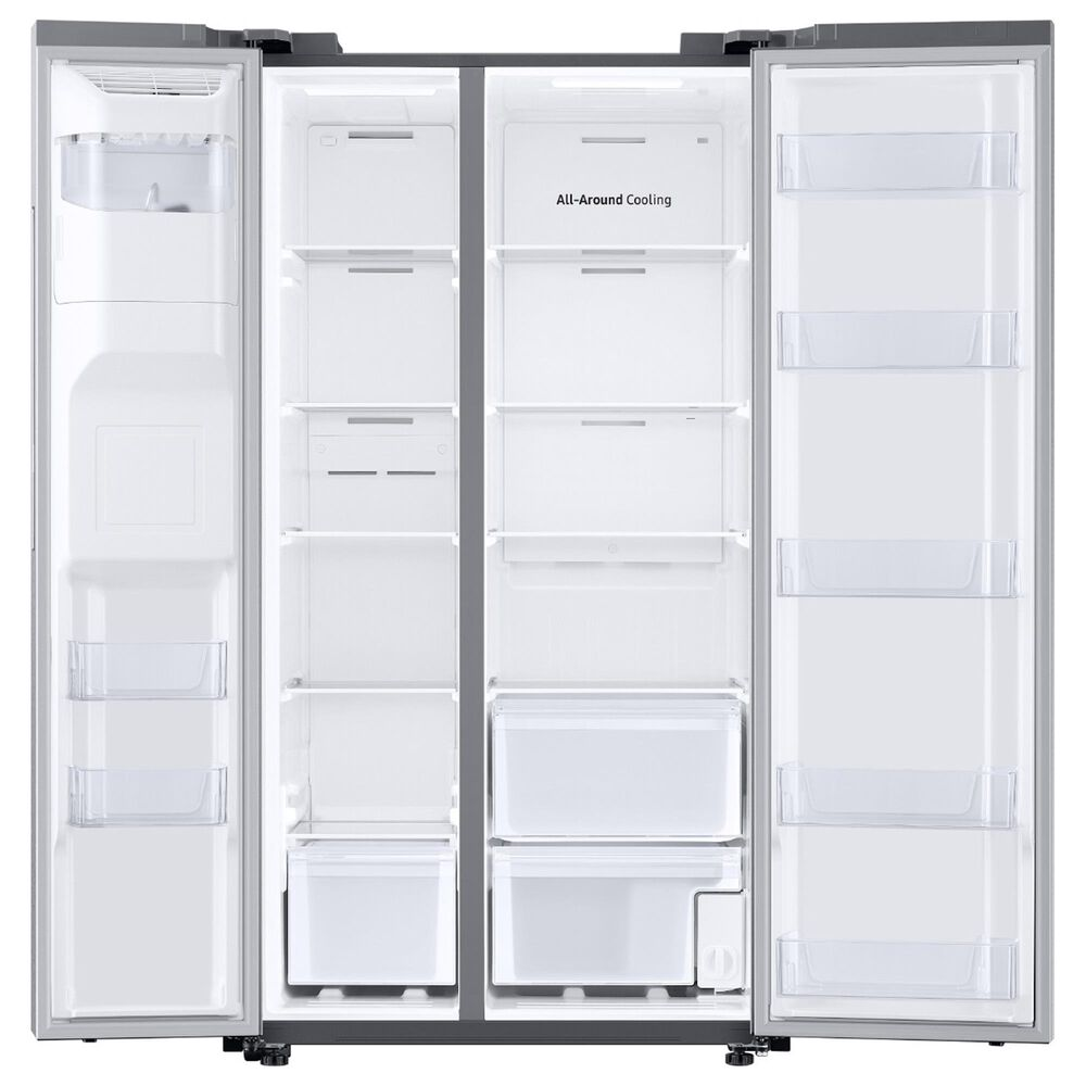 Samsung 27.4 Cu. Ft. Smart Side-by-Side Refrigerator in Stainless Steel, , large