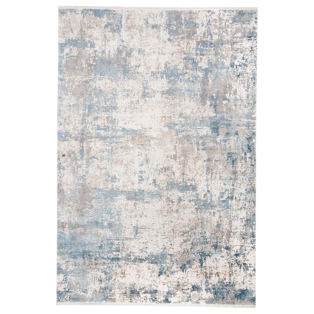 """Feizy Rugs Cadiz 3891F 9""""9"""" x 13""""2"""" Blue and Ivory Area Rug, , large"""